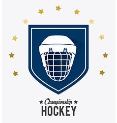 Hockey design vector