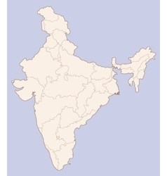 India contour map vector image