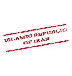 Islamic republic of iran watermark stamp vector