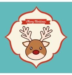 Kawaii reindeer of christmas season vector