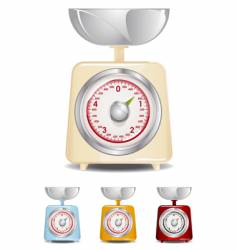 kitchen scale vector image