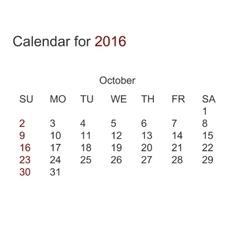 Modern calendar for 2016 vector
