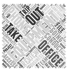 Never completely out of touch word cloud concept vector