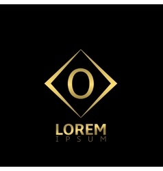 O letter logo vector