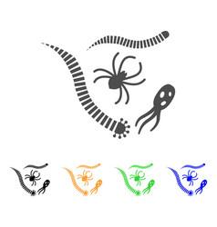 Parasites flat icon vector