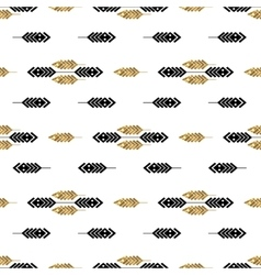 Seamless pattern with gold feathers vector image vector image