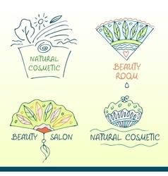 Set logos for beauty salon vector