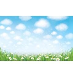sky field landscape vector image