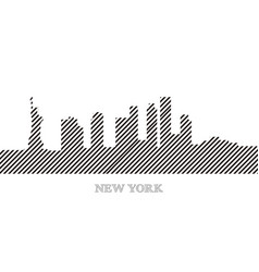 skyline of new york vector image