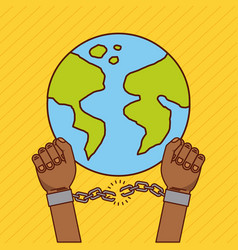 Stop racism image vector