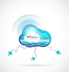 technology cloud vector image