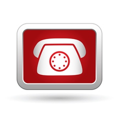 Telephone receiver icon vector image vector image