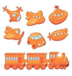 Toy orange 380 vector