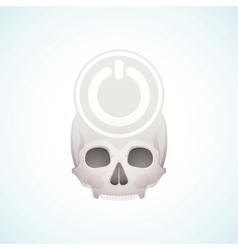 Turn off the skull vector