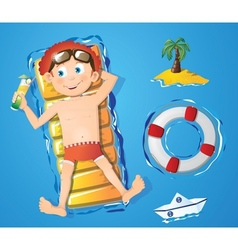 Water fun - boy vector image vector image