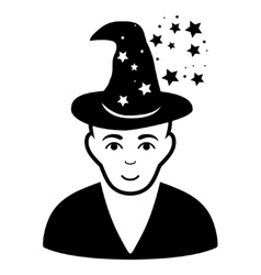 Magic master flat icon vector