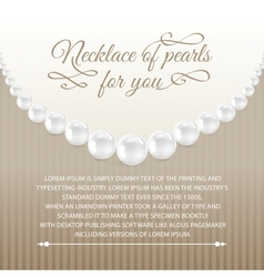 Card from necklace vector