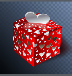 Gift on valentin day transparent effects vector