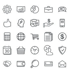 business abstract line icons modern web vector image