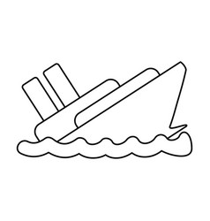 Line emergency ship flood and natural disaster vector