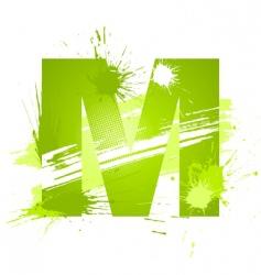 font letter m vector image