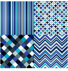 Seamless stripes geometric and zigzag pattern vector