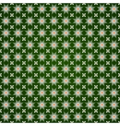 Abstract flower seamless pattern with ethnic vector