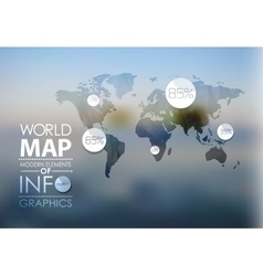 World map and information graphics vector