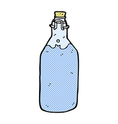 Comic cartoon old style water bottle vector