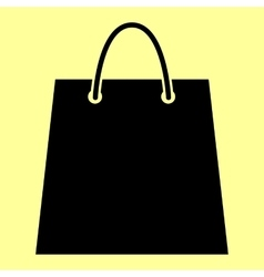Shopping bag flat style icon vector