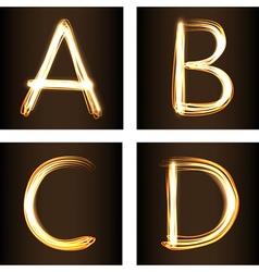 A B C D vector image