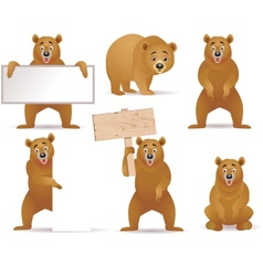 Bear cartoon collection vector
