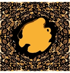 Background with leopard fur texture vector