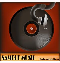 Vintage Record vector image