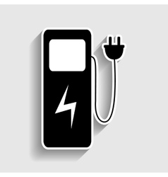 Electric car charging station sign vector