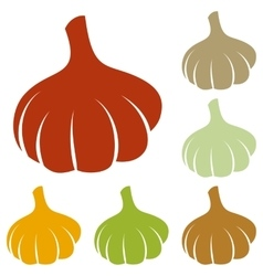 Garlic simple sign vector