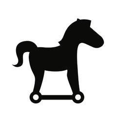 Trojan silhouette virus icon vector