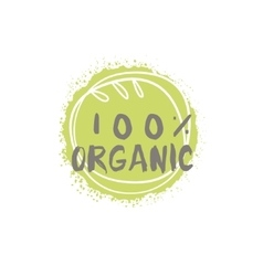 Percent organic food label vector