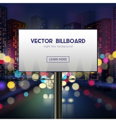 Advertising billboard template vector