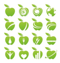 Apple icon set vector