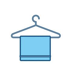 bath towel symbol vector image