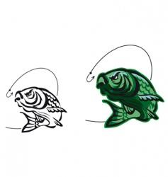 carp fish vector image vector image