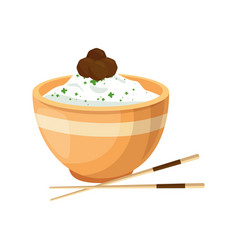 Chinese rice food vector