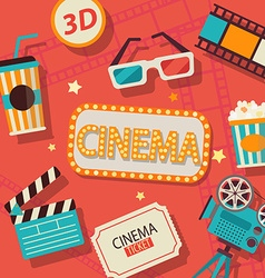 Concept of cinema vector image