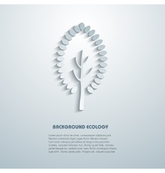Environmental background with tree simulated 3d vector image