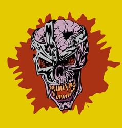 Frame skull vector