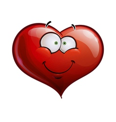 Heart Faces Happy Emoticons Smiling vector image