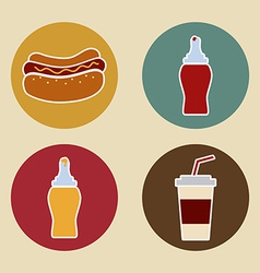 Hot dog design vector