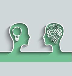 Human head vector image vector image