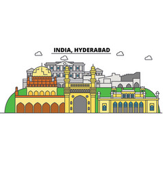 hyderabad india hinduism city skyline vector image